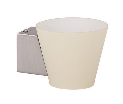 Kinkiet biały stożek szklany lampa 40W G9 Simonet Candellux 21-04980