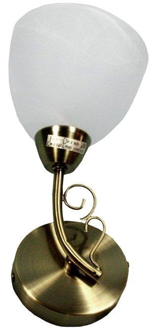 Kinkiet patynowy szklany klosz 40W E14 Barba Candellux 21-94370