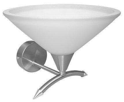 Kinkiet satyna nikiel szklany klosz 60W E27 Helia Candellux 21-74204