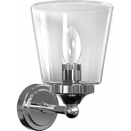 Kinkiet szklany chromowy łazienkowy 25W E14 IP44 Nowodvorski 9353