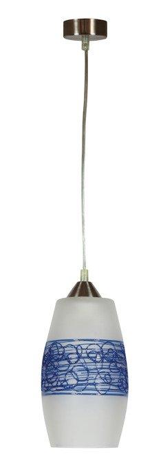 LAMPA SUFITOWA CANDELLUX WYPRZEDAŻ 31-05659 OGIVA ZWIS 1 PŁOMIENNY Z GRANATOWĄ PLECIONKĄ