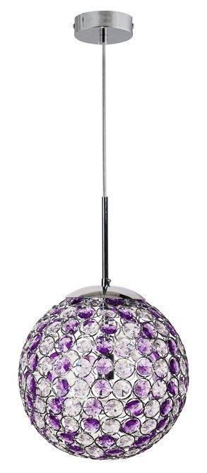 LAMPA SUFITOWA CANDELLUX WYPRZEDAŻ 31-85712 STARLET ZWIS 25 1X40W G9 CHROM/FIOLET