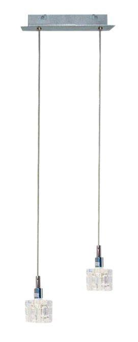 LAMPA SUFITOWA CANDELLUX WYPRZEDAŻ 32-05922 RUBIK ZWIS 2X40 G9 CHROM+KRYSZTAŁ