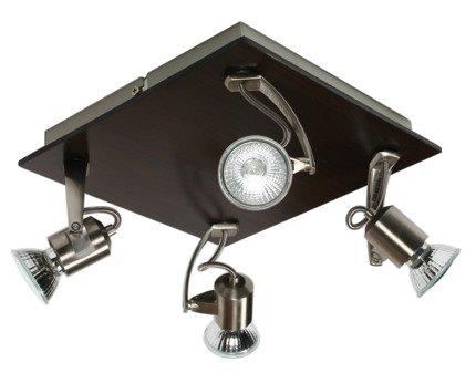 LAMPA SUFITOWA CANDELLUX WYPRZEDAŻ 94-01071 L&H DUKAT 4X50W GU10 DREWNO
