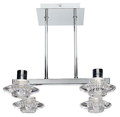 LAMPA SUFITOWA CANDELLUX WYPRZEDAŻ 94-01880 L&H RASTEK ZWIS SPOTOWY 4X40W G9 CHROM