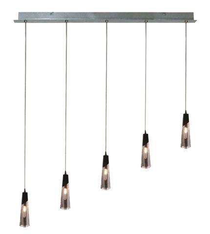 Lampa sufitowa wisząca 5x20W G4 chrom  Erica Outlet Candellux 35-18550