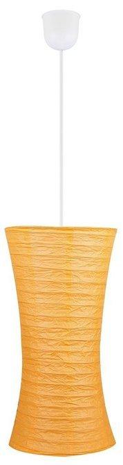 Lampa wisząca pomarańczowa papierowa regulowana 60W E27 Tai Candellux 3496011-18