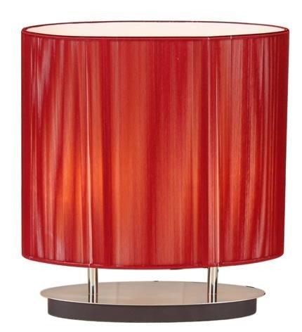 Lampka stołowa nocna czerwona sznurkowy abażur 2x60W E27 Artemis Candellux 41-10165