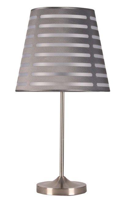 Lampka stołowa szara w paski Segin 41-18994