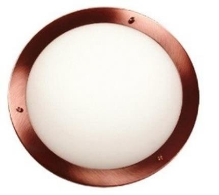 Plafon miedziany szklany lampa IP44 60W E27 Aquila Candellux 13-45416