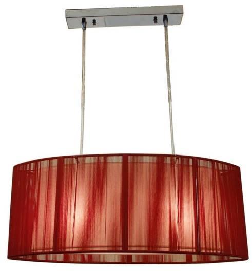 LAMPA SUFITOWA CANDELLUX WYPRZEDAŻ 32-10059 ARTEMIS ZWIS 2X60W E27 CZERWONY