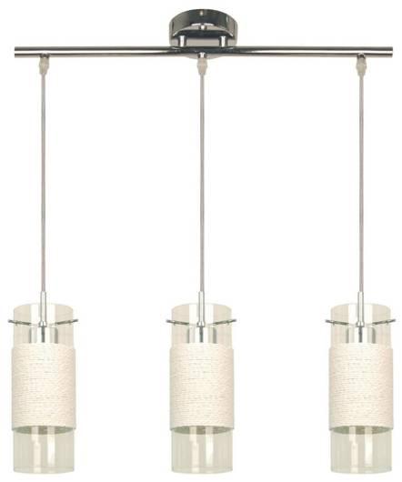 LAMPA SUFITOWA CANDELLUX WYPRZEDAŻ 33-27849 WRING ZWIS 3X60W E27 CHROM TARNSPARENT / BIAŁY