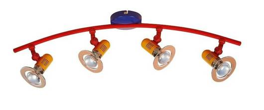 LAMPA SUFITOWA CANDELLUX WYPRZEDAŻ 34-01699 L&H BABY-SPOT LISTWA 4X40W E14 MULTIKOLOR