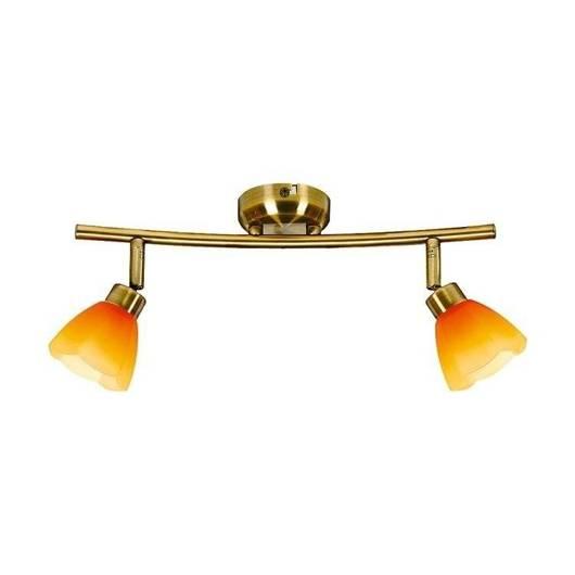LAMPA SUFITOWA CANDELLUX WYPRZEDAŻ 92-85811 KANGO LISTWA 2X40W G9 PATYNA/RAINBOW