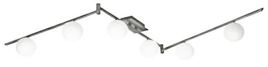 LAMPA SUFITOWA CANDELLUX WYPRZEDAŻ 96-82087 ETIUDA LISTWA SZEŚĆ NIKIEL MAT 6XG9/40W 230V