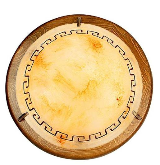 LAMPA SUFITOWA PLAFON CANDELLUX  13-31061 GRECKI   E27 BRĄZ ALABASTER DĄB