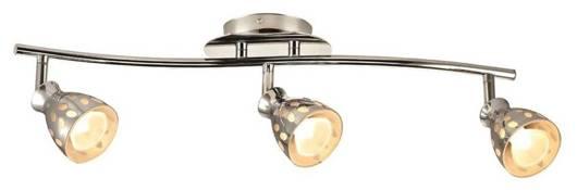 LAMPA SUFITOWA SPOT  3X50W GU10 CHROM PARADA LISTWA  93-04478