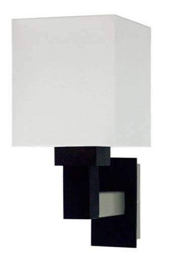 Lampa Ścienna kinkiet 1x60W E27 drewno z abażurem srebrnym Favorita Outlet Candellux 21-25145