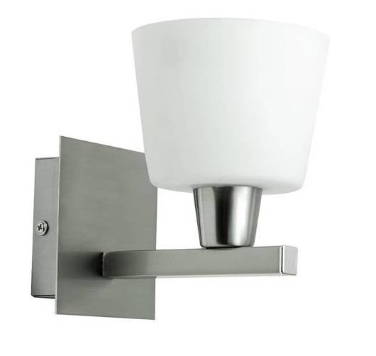 Lampa ścienna kinkiet 1X40W E14 nikiel mat HYBRYDA 21-11377