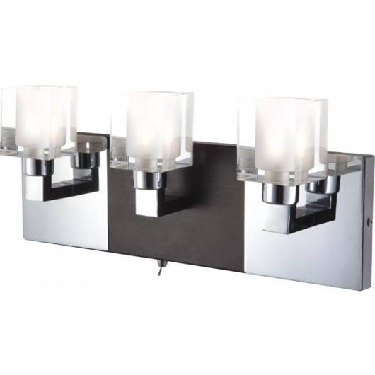 Lampa ścienna kinkiet chrom 3xG9 40W Azot Globo 56442-3