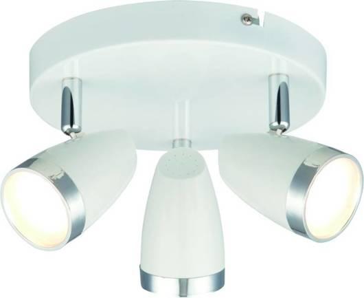 Lampa sufitowa ścienna biała plafon LED 3x40W Blanca 98-44020