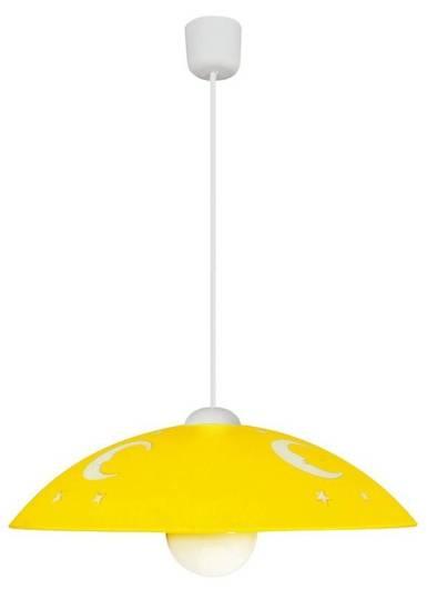 Lampa wisząca żółta dziecięca księżyc na lince 31-71760