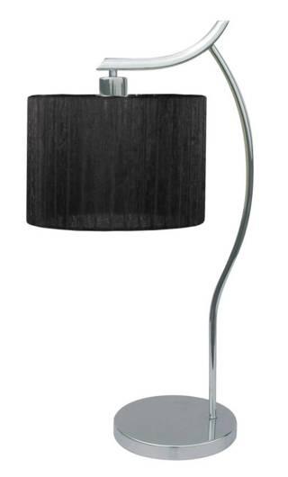 Lampka biurkowa chromowa gabinetowa carny abażur Draga Candellux 41-10414