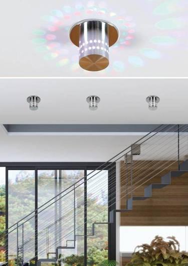 Oprawa stropowa aluminiowa LED 3W SMD RGB SA-11 2249315
