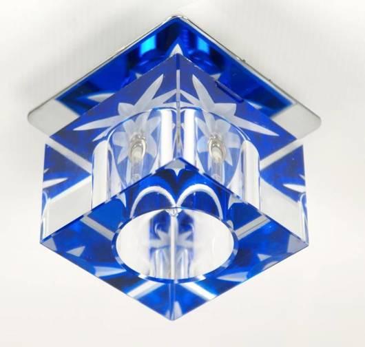 Oprawa stropowa szklana kryształ niebieski SK-47 2217362