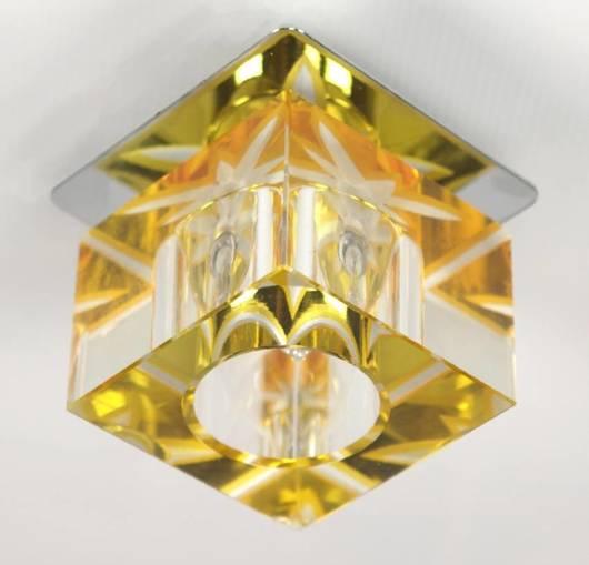 Oprawa stropowa szklana kryształ zółty SK-47 2217669